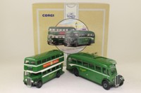 Corgi Classics 97072; Gosport & Fareham Provincial Bus Set; AEC RT Bus & AEC Regal Coach