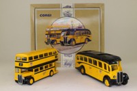 Corgi Classics 96990; AEC Bus Set; Regal Coach & Regent Bus in Yellow/Black