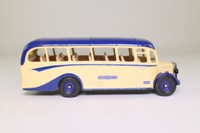 Corgi Classics C949/2; Bedford OB Duple Vista Coach; Royal Blue; Exeter - Small Lettering on Destination Blinds