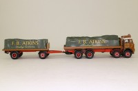 Corgi Classics 27601; Seddon Atkinson; 8 Wheel Rigid Flatbed & Trailer, Sheeted Load; FB Atkins of Derby
