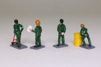 Corgi Classics STB97; Eddie Stobart Figures Set; 4 Painted Figures, Sack Truck & Oil Drum