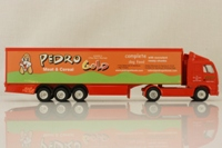 Corgi Classics TY86715; Volvo FH 1:64 Scale; Artic Curtainside; Pedro Gold