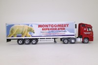 Corgi CC13826; Mercedes Actros Fridge Trailer, Montgomerey; Excellent Boxed