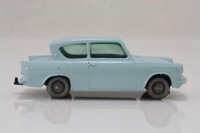 Matchbox/Lesney 7b; Ford Anglia; Duck-egg blue, black or silver wheels