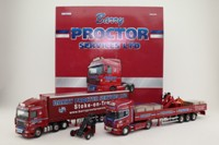 Corgi Classics CC99169; Barry Proctor Services Set; Scania Crane Trailer & DAF Curtainside & Moffett