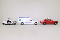 Corgi Classics C63; French Emergency Services Set; Fire, Police and Ambulance