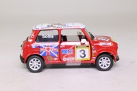 Corgi Classics CC82239; BL/Rover Mini; 2004 Mini Se7en Racing Club; Bill Sollis Mini Miglia; RN3