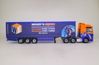 Corgi Classics CC13420; MAN TGA XXL; Artic Curtainside: Woody's Express
