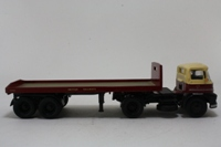 Corgi Classics 13903; Foden S21 Mickey Mouse; Articulated Flatbed Double-Axle Trailer; British Railways; Maroon, Cream