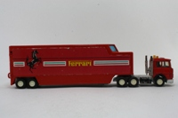 Matchbox Superkings K-136/1; Iveco Racing Car Transporter; Scuderia Ferrari, Red