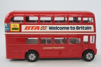Corgi Classics 469; AEC Routemaster Bus; London Transport; Rt 11 Liverpool St, Chelsea, Charing X, Fleet St; BTA Welcome to Britain