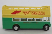 Corgi 91765; AEC Routemaster Double-Decker Open-top Bus; Crossville Happy Dragon; Prestatyn, Rhyl, Colwyn Bay, Llandudno