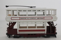 Corgi Classics C992/3; Double Deck Tram, Closed Top, Open Platform; London County Council; Kashgar Rd, Beresford Sq, Plumstead, Abbeywood