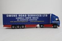 Corgi Classics CC12402; Volvo FH Artic; Curtainside Trailer, Owens Road Services Ltd, Llanelli