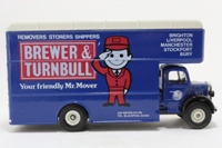 Corgi Classics C953/19; Bedford O Series Pantechnicon; Brewer & Turnbull Removals; White/Blue