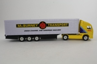 Corgi Classics TY86711; Volvo FH 1:64 Scale; Artic Box Trailer; McBurney Transport