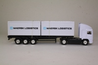 Corgi Superhaulers TY86807; ERF EC 1:64 Scale; Artic Skeletal Trailer & Containers; Maersk Logistics
