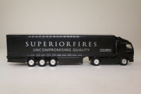 Corgi Superhaulers; Volvo FH 1:64 Scale; Artic Curtainside; Superior Fires
