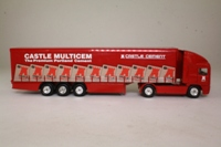 Corgi Superhaulers TY86806; ERF EC 1:64 Scale; Artic Curtainside, Castle Cement