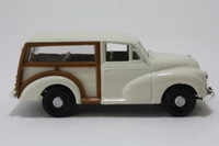 Corgi Classics 03; Morris Minor Traveller; White, Tan Woodwork
