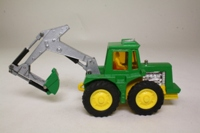 Matchbox King Size FM-2; Muir-Hill Tractor with Backhoe Set; Green, Yellow Wheels