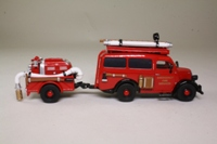 Matchbox Collectibles YFE18; 1950 Ford E38W Van; Fire Truck & Trailer