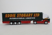 Corgi Classics TY86732; Volvo FH 1:64 Scale; Artic Curtainside Trailer, Eddie Stobart Ltd; International Logistics