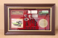 YY908; 1917 Yorkshire Steam Wagon; Framed Exploded Model