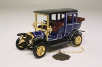 Models of Yesteryear Y-3/2; 1910 Benz Limousine; Dark Blue, Gold Trim, Matchbox Collectibles