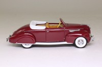 Models of Yesteryear YY064/B; 1938 Lincoln Zephyr Convertible; Open Top, Dark Red