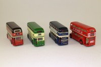 Corgi Classics 33001; Routemasters Around Britain 4 Pce Set; London Transport, Bournemouth Heritage, McGills of Barhead, Delaine Coaches