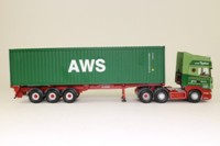Corgi Classics CC13718; Scania Topline; Skeletal Trailer & Container, Johnsons (Burscough) Ltd