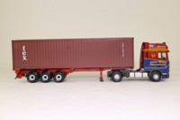 Corgi Classics CC13240; DAF XF Space Cab; Skeletal Trailer & Container, Peter Wood Haulage