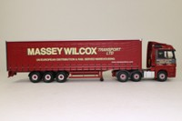 Corgi Classics CC13819; Mercedes-Benz Actros; Curtainside, Massey Wilcox, Chilcompton, Somerset