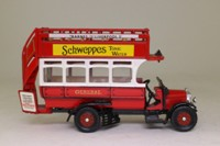Corgi Classics C858/10; Thornycroft J Type Bus; General; Rt 9 Barnes to Liverpool St, Schweppes Tonic Water