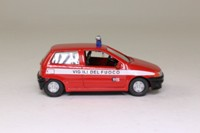 World Fire Engines Series #137; 1995 Fiat Punto Fire Command Car, Italy, Vigili del Fuoco