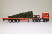 Corgi Classics CC13422; ERF ECT High Entry Sleeper Artic; Flatbed; Beck & Pollitzer, Christmas Tree Load