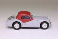 Vanguards VA04702; Triumph TR3A Sports; Soft Top, Silverstone Grey & Red