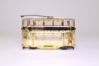 Corgi Classics CC25207; Double Deck Tram, Closed Top, Closed Platform; Gold Plated, Queen's Golden Jubilee
