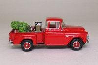 Matchbox Collectibles YSC02-M; 1955 Chevrolet Advance Pickup; 3100, Christmas Pickup