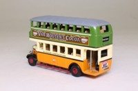 Matchbox Collectibles YET02-M; 1929 Leyland Titan Bus; Glasgow Corporation; George Square; Van Houten's Cocoa