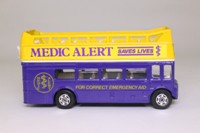 Corgi 469; AEC Routemaster Bus; Open Top; Medic Alert, Sponsored by Lions Clubs