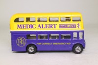 Corgi 469; AEC Routemaster Bus; Medic Alert, Sponsored by Lions Clubs