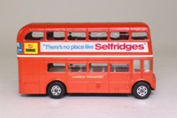 Corgi 469; AEC Routemaster Bus; London Transport; 12 Shepherd's Bush; Selfridges Adverts