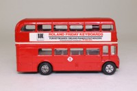 Corgi 469; AEC Routemaster Bus; London Transport; 36a Downham Way Bromley Rd; Autospares & Roland Friday Keyboards