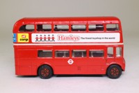 Corgi 469; AEC Routemaster Bus; London Transport; 6 Regent St; Hamley's Five Clowns Advert
