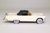 Corgi 801; 1957 Ford Thunderbird Convertible; Soft Top, White, Black Hood