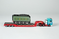 Corgi Classics CC13213; DAF XF Space Cab; 3 Axle Low Loader; Allely's Heavy Haulage Ltd, Locomotive Tender Load