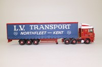 Corgi Classics CC13227; DAF XF Space Cab; Curtainside Trailer, LV Transport Ltd