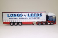 Corgi Classics CC13202; DAF XF Space Cab; Curtainside Trailer, Longs of Leeds